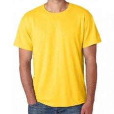 Kaos Distro O-Neck Cotton Combed 20s - Kuning