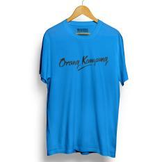 Kaos Distro ORANG KAMPUNG BIru Muda T-Shirt Lengan Pendek