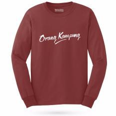 Kaos Distro ORANG KAMPUNG T-Shirt Panjang - Merah
