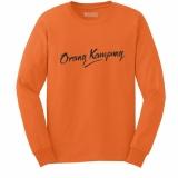 Top 10 Kaos Distro Orang Kampung T Shirt Panjang Orange Online