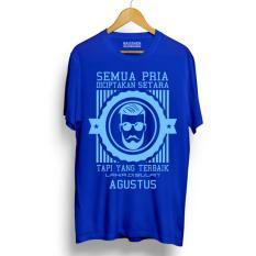 Spesifikasi Kaos Distro Pria Terbaik Lahir Agustus Light Blue Premium Yang Bagus