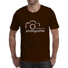 Toko Kaos Distro Profesional Photografher T Shirt Coklat Lengkap