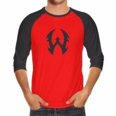 Kaos Distro Raglan WALEXA CLASIC Original - Merah