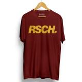 Kaos Distro Rsch T Shirt Maroon Walexa Clothing Diskon 50