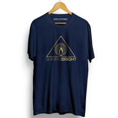 Kaos distro Shining bright navy - tshirt Shining bright navy s m l xl