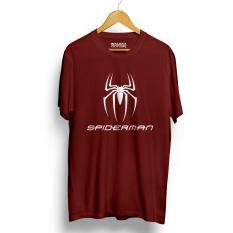 Diskon Kaos Distro Spiderman T Shirt Maroon Walexa Clothing