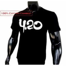 Kaos Distro T-Shirt Fashion 100% Soft Cotton Combed 30s Pria Wanita Cewe Cowo Baju TShirt 3D Kekinian Jaman Now Terbaru Model Baru Animasi Seni Kata Tulisan VR46 Balap 420 4.20 Janda Gaul Bandung Merek Atasan Pakaian