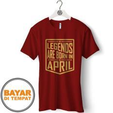 Harga Termurah Kaos Distro T Shirt Pria Bulan Lahir April Gcp88