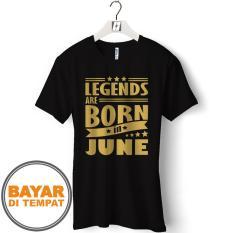 Kaos Distro T-Shirt Pria BULAN LAHIR JUNI - GCP66