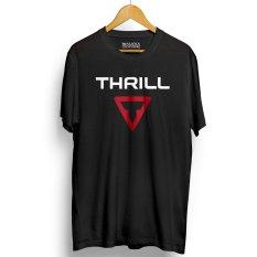 Beli Kaos Distro Thrill T Shirt Hitam Merah Cicilan
