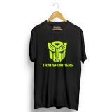 Ulasan Kaos Distro Transformers T Shirt Hitam Neon Yellow