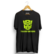 Jual Kaos Distro Transformers T Shirt Hitam Neon Yellow Walexa Clothing Asli