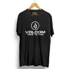 Kaos DISTRO VOLCOM Lengan Pendek - Black Premium