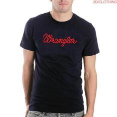 Kaos Distro Wrangler - Black Tshirt Wrangler Red Print Premium 2diclothing