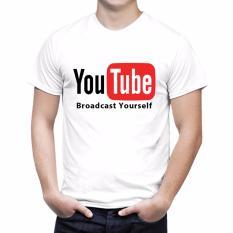 Kaos distro Youtube Bro - Putih