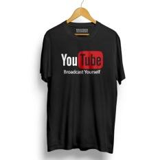 Spesifikasi Kaos Distro Youtube T Shirt Black