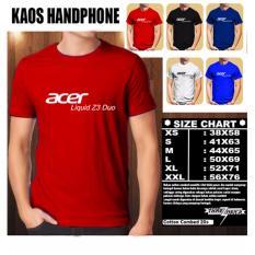Kaos Gadget HP Distro Baju T-Shirt Handphone Acer Liquid Z3 Duo Font