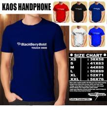 Kaos Gadget HP Distro Baju T-Shirt Handphone blackberry Bold Touch 9900 Font