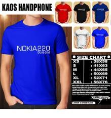 Kaos Gadget HP Distro Baju T-Shirt Handphone Handphone NOKIA 220 Dual SIM