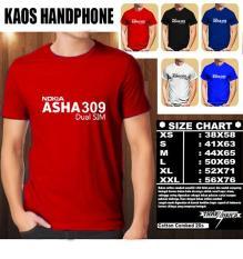 Kaos Gadget HP Distro Baju T-Shirt Handphone Handphone NOKIA ASHA 309
