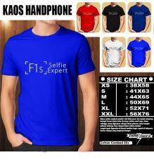 Kaos Gadget HP Distro Baju T-Shirt Handphone Handphone OPPO F1S LOGO FONT