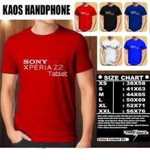 Kaos Gadget HP Distro Baju T-Shirt Handphone SONY Xperia Z2 Tablet Logo Font