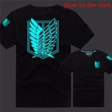 Jual Beli Online Kaos Glow In The Dark Attack On Titans Black