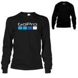Promo Kaos Go Pro T Shirt Lengan Panjang Black Kaos Distro Terbaru