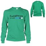 Jual Kaos Go Pro T Shirt Lengan Panjang Green Tosca Import