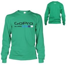 Spek Kaos Go Pro T Shirt Lengan Panjang Green Tosca Banten