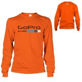 Spek Kaos Go Pro T Shirt Lengan Panjang Orange Walexa Clothing