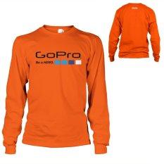 Harga Kaos Go Pro T Shirt Lengan Panjang Orange Original