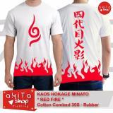 Harga Hemat Kaos Hokage Minato Red Fire Anime Naruto