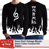 Jual Kaos Hokage Minato White Fire Anime Naruto Baru
