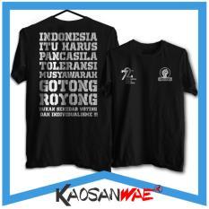 Kaos Indonesia Merdeka Gotong Royong 72 tahun 17 Agustus Tshirt KaosanWae