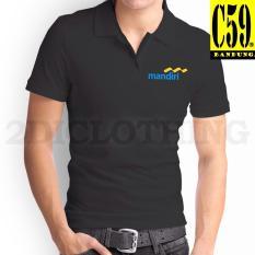 Kaos Kerah Pria - Baju Polo Kerah - Kaos Distro Kerah Polo Bank Mandiri - Polo T-Shirt Mandiri