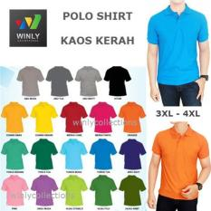 Kaos Kerah Wangki Polo Shirt Premium Big Size Uk 3Xl - 4Xl - Gwt8g9