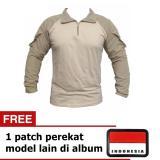 Pusat Jual Beli Kaos Lengan Panjang Tactical Cream Free 1 Patch Jawa Timur