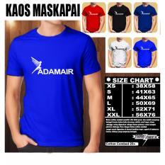 Kaos Logo Maskapai Baju Distro T-Shirt Pesawat ADAM AIR TEKS LOGO