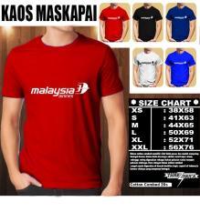 Kaos Logo Maskapai Baju Distro T-Shirt Pesawat MALAYSIA AIRLINES