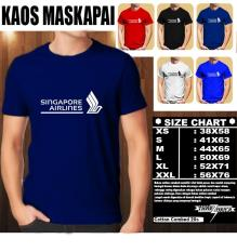 Kaos Logo Maskapai Baju Distro T-Shirt Pesawat SINGAPORE AIRLINES A GREAT WAY TO FLY