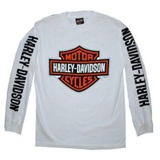 Spesifikasi Kaos Long Sleve Harley Davidson Motor Cycles White Version Best Quality Int One Size Overseas Oem