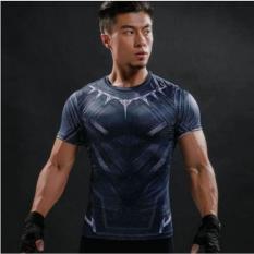 Diskon Kaos Manset Baselayer Gym Under Armour Black Panther New Promo Terlaris