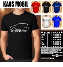 Promo Kaos Mobil Distro Baju T Shirt Otomotif Chevrolet Aveo Siluet List 1 Multi