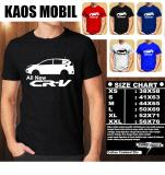 Jual Kaos Mobil Distro Baju T Shirt Otomotif Honda All New Cr V Siluet Tampak Samping Murah Di Indonesia