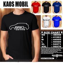 KAOS MOBIL Distro Baju T-Shirt Otomotif HONDA BRIO ESTATE SILUET LIST 1