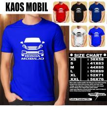 Promo Kaos Mobil Distro Baju T Shirt Otomotif Honda Mobilio Siluet Tampak Depan Indonesia