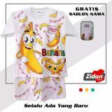 Spesifikasi Kaos Motif Pisang Banana Kaos Setelan Anak Pisang Banana Custom Nama Murah Berkualitas