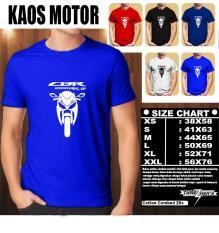 KAOS MOTOR Distro Baju T-Shirt Otomotif HONDA CBR 1000 RR SP SILUET TAMPAK DEPAN