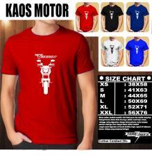 KAOS MOTOR Distro Baju T-Shirt Otomotif YAMAHA NEW VIXION SILUET TAMPAK DEPAN